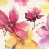 Het hete Verkopende Met de hand gemaakte Olieverfschilderij van het Decor van de Muur van Roze Bloem