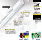 Luz da câmara de ar do diodo emissor de luz do UL 2835 T8 220V de Shenzhen para dispositivos elétricos da loja