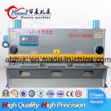Plaque de la guillotine hydraulique Machine de découpe de cisaillement de métal