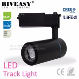Ajustable de haute qualité LED noir 30W la voie des vêtements légers Shop disponible