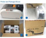Máquina de impressão plástica Hiti do cartão da impressora do cartão da identificação CS200
