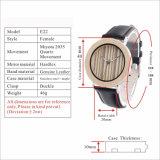 Los hombres de madera Madera Relojes Watch Band reloj de cuarzo para hombres