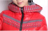 Яркая теплая зимы куртка вниз для девушки