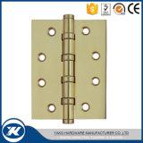 Bisagra de puerta de madera de cobre amarillo de clase superior del rodamiento de bolitas