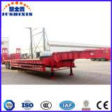 Eixo vermelho 3 Cama baixa equipamentos pesados caminhões de transporte de carga semi reboque