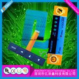 Изготовленные с нажатием кнопки с панели управления мембранный переключатель