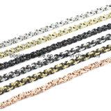 Черный и серебристый корпус из нержавеющей стали мужская цепь браслет