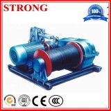Cable eléctrico de la máquina de la construcción que tira del torno