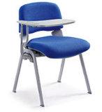 팔 없는 현대 직물 게스트 금속 직원 도금 의자