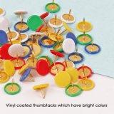 Commerce de gros de haute qualité recouvert de vinyle à tête ronde multicolore une punaise