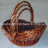 Plânton vegetal misturado das cestas de vime