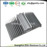 Perfil de aluminio anodizado con disipador de calor y de mecanizado CNC