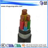 6кв XLPE изоляцией ПВХ пламенно тонкая стальная проволока бронированные кабель питания