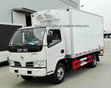 Dongfeng 6 ruedas refrigeró el carro del camión carro vaccíneo del transporte de 5 T