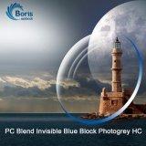 1.591 PC 혼합 보이지 않는 파란 구획 Photogrey Hc 광학 렌즈