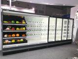 Энергосберегающий холодильник открытой выкладки для супермаркета с освещением СИД