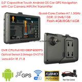 """새로운 5.0 """" 차 GPS Navation, 인조 인간 OS 의 차 주차 사진기를 위한AV 에서 가득 차있는 HD1080p 차 DVR를 가진 차 정제 PC, Adas 차 비행 기록 장치; 붙박이 G 센서"""