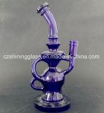 Tubulação de água de fumo de vidro do estilo de prata Smoked do Mothership