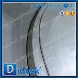 Низкий крутящий момент Didtek фланцевые концы двухстворчатый клапан с червячной передачи