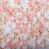 고품질은 결혼식 훈장 단계 배경 훈장을%s 60*40cm 로즈 인공 꽃 벽을 주문을 받아서 만들었다