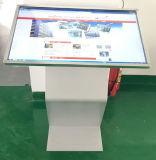 32 pouces -84 annonçant le kiosque d'aéroport d'écran tactile de multimédia d'écran tactile de stand de moniteur