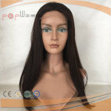 El cabello humano brasileña de encaje frontal de color marrón peluca (PPG-L-0195)