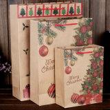 Venda por atacado do saco do presente do papel do Natal da alta qualidade