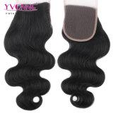 Самое лучшее продавая бразильское закрытие шнурка волос девственницы с волосами младенца