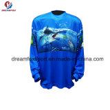 Длинние втулки удя рубашки рыболовства сублимации одеяния изготовленный на заказ для людей