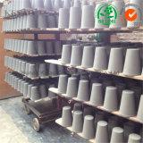 Crogiolo del laboratorio per oro che analizza il crogiolo assaggiatore di ceramica dell'argilla refrattaria/fuoco