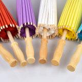 Зонтик бумаги масла Китая Handmade с прямой деревянной ручкой