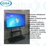 Scheda interattiva dell'aula della nuova generazione dell'affissione a cristalli liquidi LED di proiezione dello schermo della visualizzazione multimedia di tocco con la scheda bianca e la scheda verde per formazione