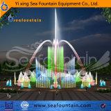 Фонтан хорошего качества сухой в парке квадрата или воды