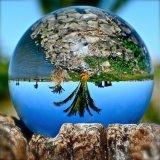 Kristall macht Glaskugel für Hauptdekoration-und Fotographien-Foto mit verschiedenen Abmessungen in Handarbeit