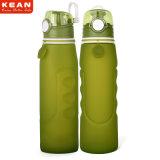 bottiglia di acqua pieghevole del silicone 1L per esterno