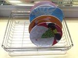 Шкаф тарелки металла квадрата кухни форменный с дренажной плитой