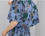 2018 новых элегантных цветочными орнаментами Дамы платье