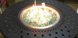 runder 48-Inch Gussaluminium-Patio-Feuer-Vertiefung-Tisch