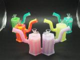 Pipe en verre de fumage d'accessoires de concentré de pétrole de conduite d'eau de silicones