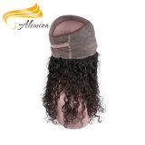 Fechamentos 100% naturais indianos do laço da cor do cabelo humano do Virgin