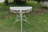 Meia mesa redonda do ferro Foldable para o espaço da economia
