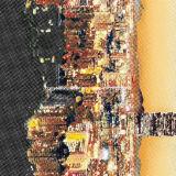 la dispersion 100%Polyester 3D urbaine a estampé le tissu pour le jeu de literie
