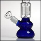 Blue Base redonda tazón de vidrio Rasta conjunta de Hookah Pipas cigarrillos Tubo de agua