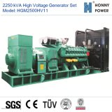 Hochspannungsset des generator-2250kVA 10-11kv mit Googol Motor 50Hz