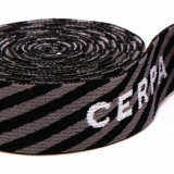 Largeur de 3.8cm de gros de matelas tissé Crochet sangle polyester de polarisation de bandes de chant