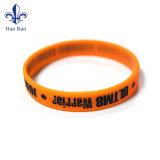 Braccialetto di Silcone dei Wristbands del silicone stampato marchio su ordinazione caldo di vendita