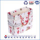 Custom Рождество мультфильм бумажных мешков для пыли, коммерческие бумаги подарочный пакет
