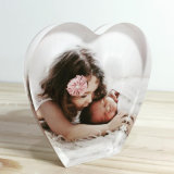 Heart Shaped Acrylic Block Photo Frame Funny Frame