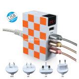 Adattatore universale di corsa internazionale della stazione di carico di corsa del USB della batteria di corrente alternata