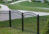 ゲートが付いている最新の鋼鉄塀